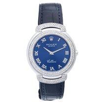 Rolex Cellini Quartz 18k White Gold Men's Watch 6623/9