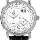 A. Lange & Söhne A  Lange 1 Time Zone Black Leather...