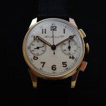 H.Moser & Cie. Rare 18k Gold Chronograph 40's