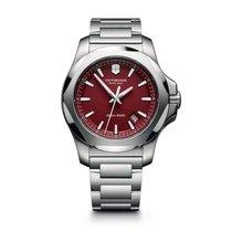 Victorinox Swiss Army I.N.O.X. red dial, steel bracelet, date