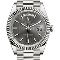 Rolex Day-Date 40  rhodium stripe dial