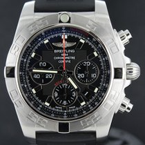 Breitling Chronomat 44MM Flying Fish, Black Dial Rubber Strap...