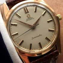 Omega Seamaster Automatic Automatik red gold plated Vintage