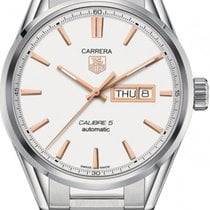 TAG Heuer Carrera Calibre 5 Steel Case Steel Bracelet WAR201DB...
