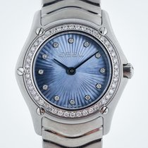 Ebel Classic Wave Ladies, Stainless Steel, MOP Diamond Dial,...