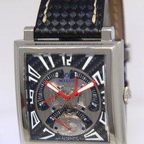 Milus Herios TriRetrograde Steel Carbon Fiber Mens 42mm Watch...