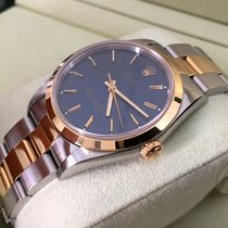 Rolex Oyster Perpetual Gold Steel Blue Dial 34 mm (Full Set 1997)