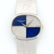 Patek Philippe Vintage White Gold Diamond Lapis Bracelet Watch