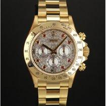 Rolex Daytona 16528 gold diamond dial, full set & Rolex serv