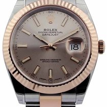 Rolex Datejust 41 Sundust Dial Index Marker Fluted Oyster...