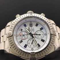 Breitling Super Avenger 48mm A13370 Steel Chrono White Dial...