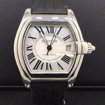 Cartier Roadster 36mm Stainless Steel s Dial Rubber Strap...
