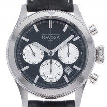 Davosa Business Pilot Stahl Automatik Chronograph Armband...