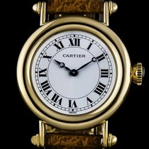 カルティエ (Cartier) 18k Yellow Gold White Roman Dial Diabolo...