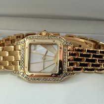 Cartier Panthere Lady Yellow Gold Special Pearl Dial 18 krt...