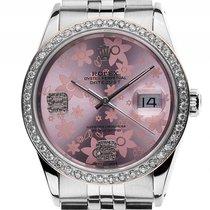 Rolex Datejust Custom Stahl Weißgold Diamond Automatik Armband...