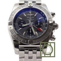Breitling Chronomat 44 GMT Chronograph Grey Dial Full Steel NEW