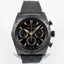 Tudor Fastrider Black Shield Rubber Strap Gold Index