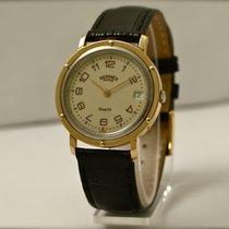 Hermès Paris Clipper Quartz in Oro Giallo e Acciaio