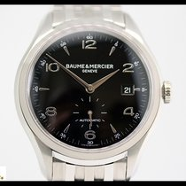 Baume & Mercier Clifton steel automatic watch with steel...