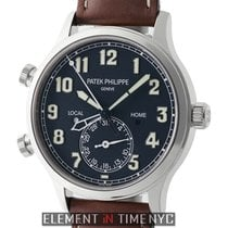 Patek Philippe Calatrava Pilot Travel Time 18k White Gold 42mm...