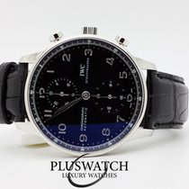 IWC PORTOGHESE CHRONOGRAPH 41mm Black Dial NOS 2947
