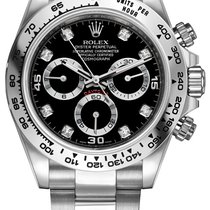 롤렉스 (Rolex) Cosmograph Daytona White Gold 116509 Black Diamond...