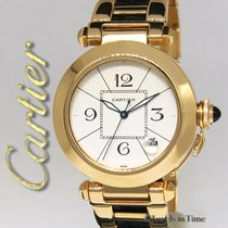 カルティエ (Cartier) Pasha 38mm 18k Yellow Gold/Leather Automatic...