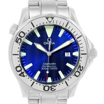 Omega Seamaster Electric Blue Dial Steel Mens Watch 2265.80.00