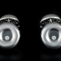 萧邦 (Chopard) 18k White Gold Happy Diamonds Cufflinks