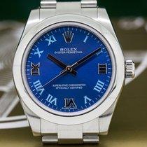 Rolex 177200 177200 Oyster Perpetual Ladies Azzurro Blue Roman...