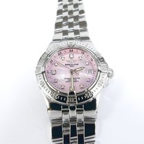 Breitling Starliner Pink Mother of Pearl Diamond Set Dial