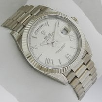 Rolex Day-Date White Gold 40mm 228239 Silver Quadrant Motif Dial