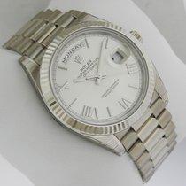 Rolex Day-Date White Gold 40mm 228239 Silver Quadrant Motif Dial