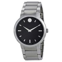 Movado Gravity Black Carbon Fiber Dial Men's Watch