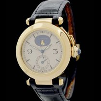 Cartier Pasha/Mondphase Quartz - Ref.: 30001 - Gelbgold mit...