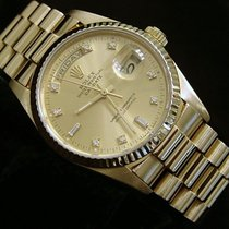 Rolex 18k Gold Day-date President Champagne Diamond 18038