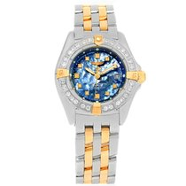 Breitling Callisto Ladies Blue Mother Of Pearl Diamond Watch...