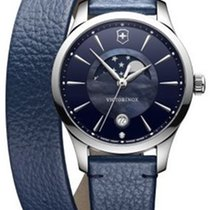 Victorinox Swiss Army ALLIANCE SMALL 35mm Leather Blue Strap...