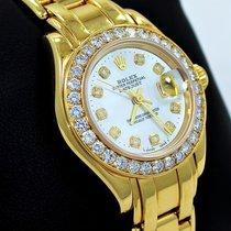 Rolex Masterpiece 69298 18k Yellow Gold Mop Dial Factory...