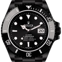 Rolex Submariner Date (black, DLC) by Blaken