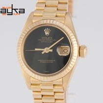 Rolex Datejust Ladies Yellow Gold 18k Onyx Dial 6917