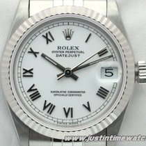 Rolex Oyster DateJust 68274 medio Lady 31mm quadrante bianco
