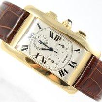 Cartier TANK AMERICAINE 18K GOLD REF. 1730 CHRONOFLEX