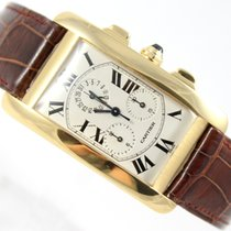 Cartier TANK AMERICAINE 18K GOLD REF. 1730 CHRONOFLEX