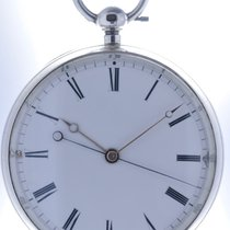 Swiss Mans open face Pocketwatch Seconde Morte Triple Key Wind...