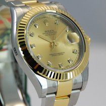Rolex DateJust II 2 Two Tone 18kt YG/SS Diamond Dial-116333