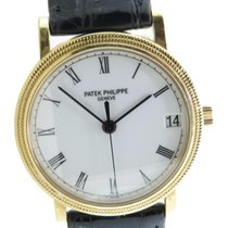 Patek Philippe Calatrava 3802j Solid 18k Yellow Gold 33mm...