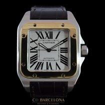 Cartier Santos 100 XL 2656 Steel & Gold Like New Box&P...