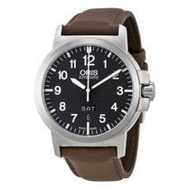 Oris BC3 Advanced Black Dial Leather Strap Mens Watch 73576414...